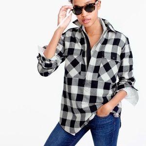 J Crew • Buffalo Check Flannel Shirt Jacket